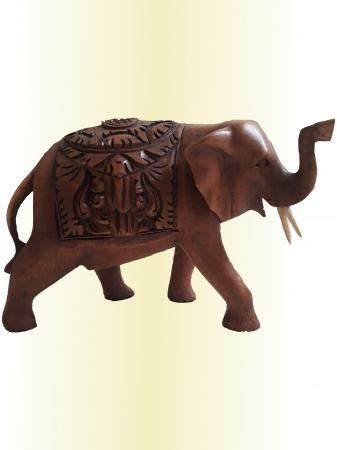 statue d 39 l phant sculpt en bois trompe en l 39 air sawadee artisanat artisanat thailandais et. Black Bedroom Furniture Sets. Home Design Ideas