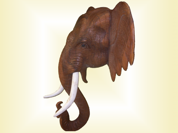 Tete elephant africaine sawadee artisanat artisanat thailandais et indonesien - Tete d elephant mural ...